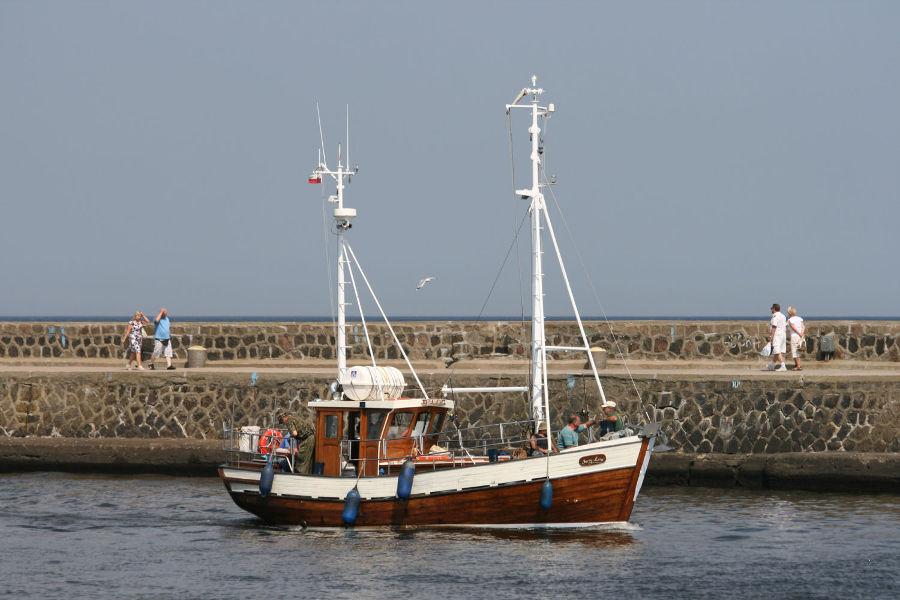 Morski rejs wędkarski - jeden ze statków